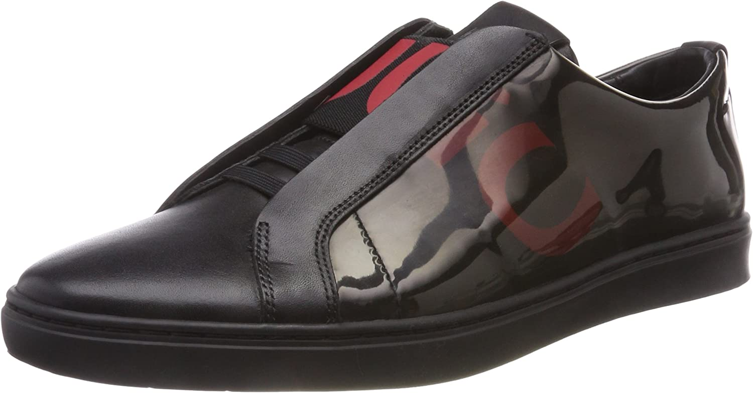 HUGO Herren Post_slon_Log Slip On Turnschuhe