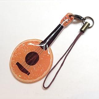 Jam's Ukulele DYG-525 / ウクレレストラップ・UVレジン(樹脂コーティング)オレンジ ウクレレ フルーツウクレレ ストラップ ウクレレアクセサリー ハンドメイド 手作り