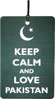 Keep Calm and Love Pakistan Car Air Freshener (Xmas Christmas Stocking Filler/Secret Santa Gift)