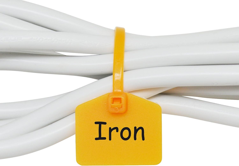 Mr Label 110 Mm Nylon Kabel Kabelbinder Tags Etiketten Marker Schreiben Auf Selbstsichernd Mit Frei Bedruckbaren Etiketten Zum Markieren Und Organisieren Von Kabeln 100 Gelb Baumarkt