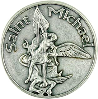 Patron of the Military Saint St Michael the Archangel Pocket Token with Prayer