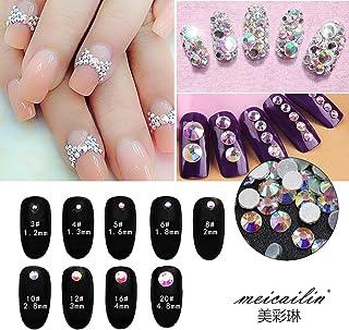 Nail Art Rhinestone Ab White Crystal 1440pcs/bag Shining Flatback Rhinestone Decorations for Nails SS10