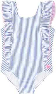 Baby/Toddler Girls Ruffle Strap One Piece Swimsuit w/UPF 50+ Sun Protection