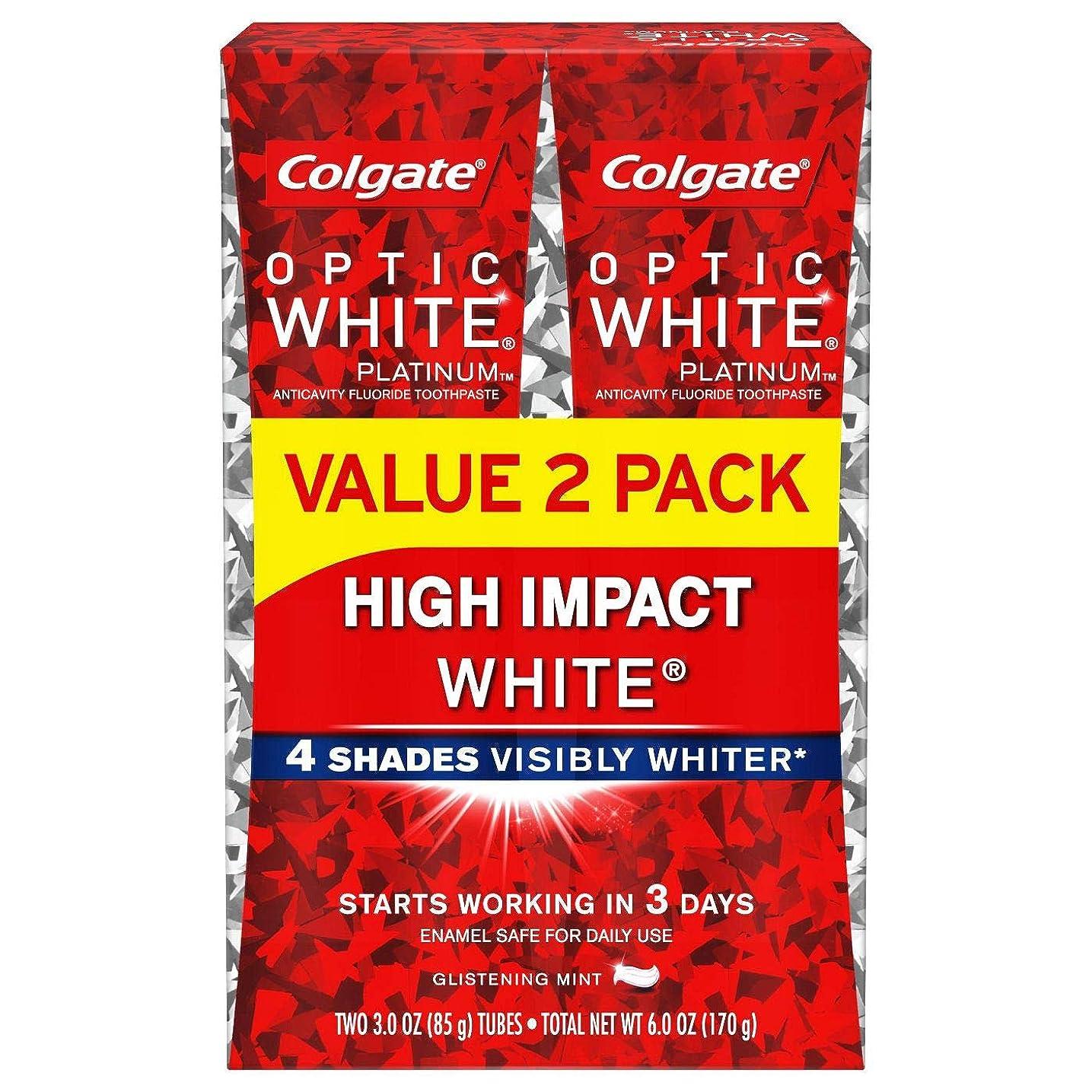 共感する半円眉をひそめるColgate Optic White High Impact White 練り歯磨き [並行輸入品] (2個セット)