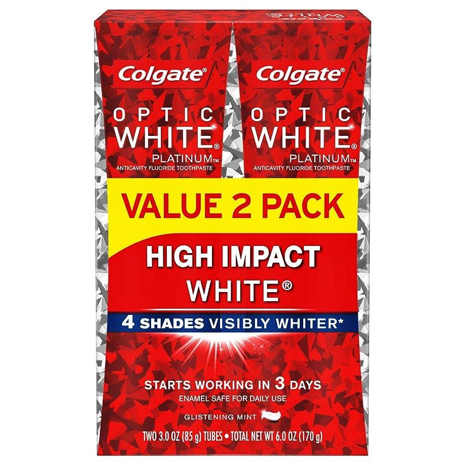 不健全かどうかインゲンColgate Optic White High Impact White 練り歯磨き [並行輸入品] (2個セット)