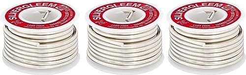 wholesale Lead Free 2021 Silvergleem Solder Wire - 1/2 Lb Spool popular (Three Pack) outlet sale