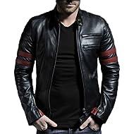 Laverapelle Men's Genuine... Laverapelle Men's Genuine Lambskin Leather Jacket (Black, Racer Jacket) - 1501535