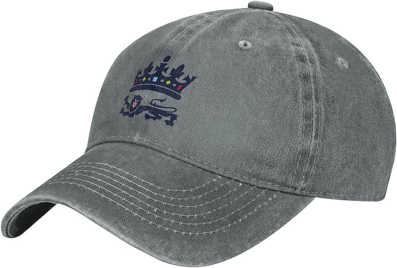 England Cricket Unisex Adjustable Baseball Caps Denim Hats Cowboy Hats Team Baseball Dad Hat
