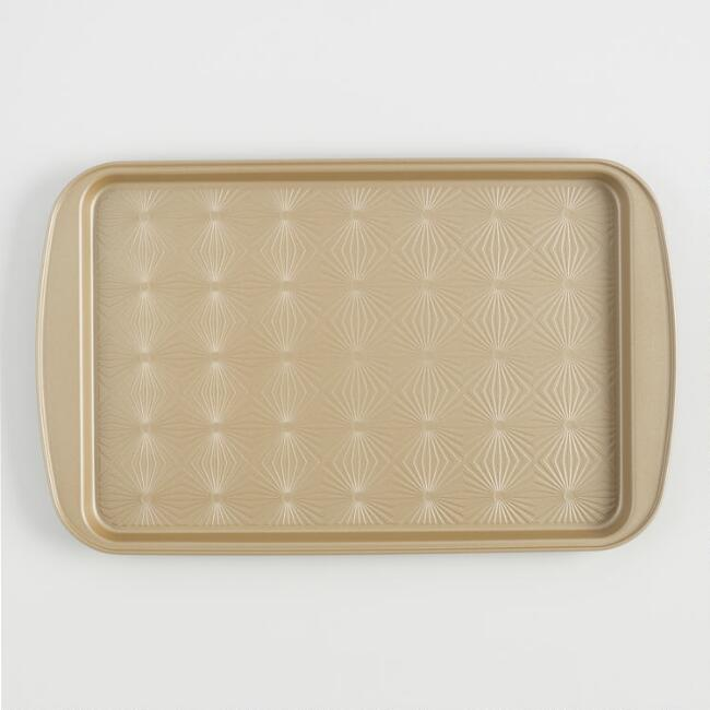 Gold Luxe Textured Nonstick Baking Sheet | World Market