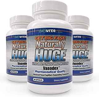 Naturally Huge Men's Pills 3 Bottles (3 Month Supply)