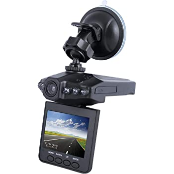 "Loop Recording DashCam Pro As Seen on TV Dash Cam 360/° 2.5/"" LCD Dashboard Camera Video Recorder Motion Detection Night-Mode 720P HD"