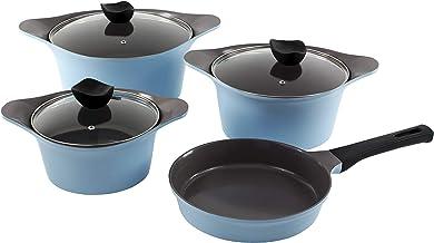 Alberto Aluminium Cookware Sets - 7 pieces - Blue