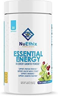 NuEthix Formulations Essential Energy BCAA, EAA, and Keto Salts Amino Acid Supplement for Better Workouts, Stamina and Men...