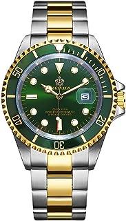 ساعة REGINALD للرجال قابلة للتدوير إطار GMT مقاومة للماء من الفولاذ المقاوم للصدأ ساعة كوارتز عصرية للرجال