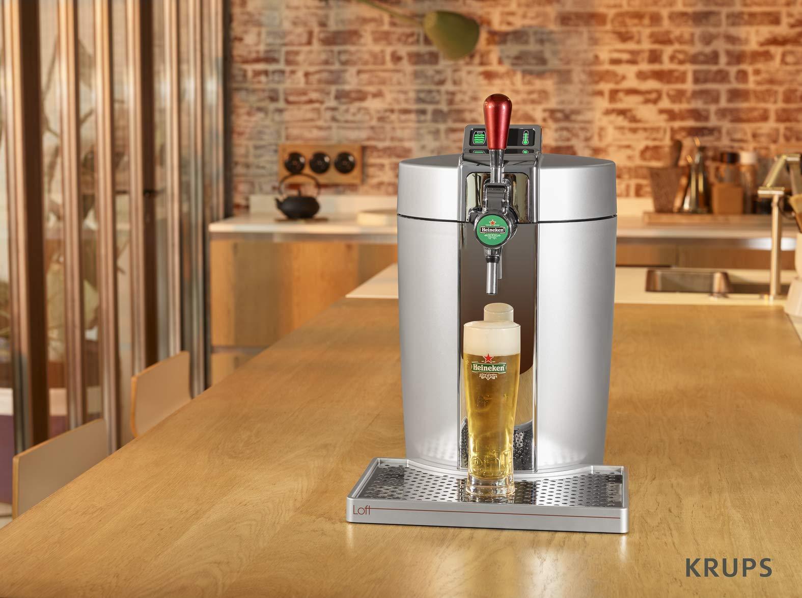 Krups VB700E00 5L Dispensador de cerveza de barril grifo de ...