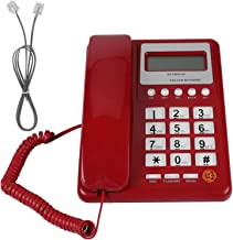 $27 » DAUERHAFT KX-T8001 Corded Telephone, ABS Red Wired Corded Telephone Dual Mode Desktop Phone Landline Fixed Telephone with ...