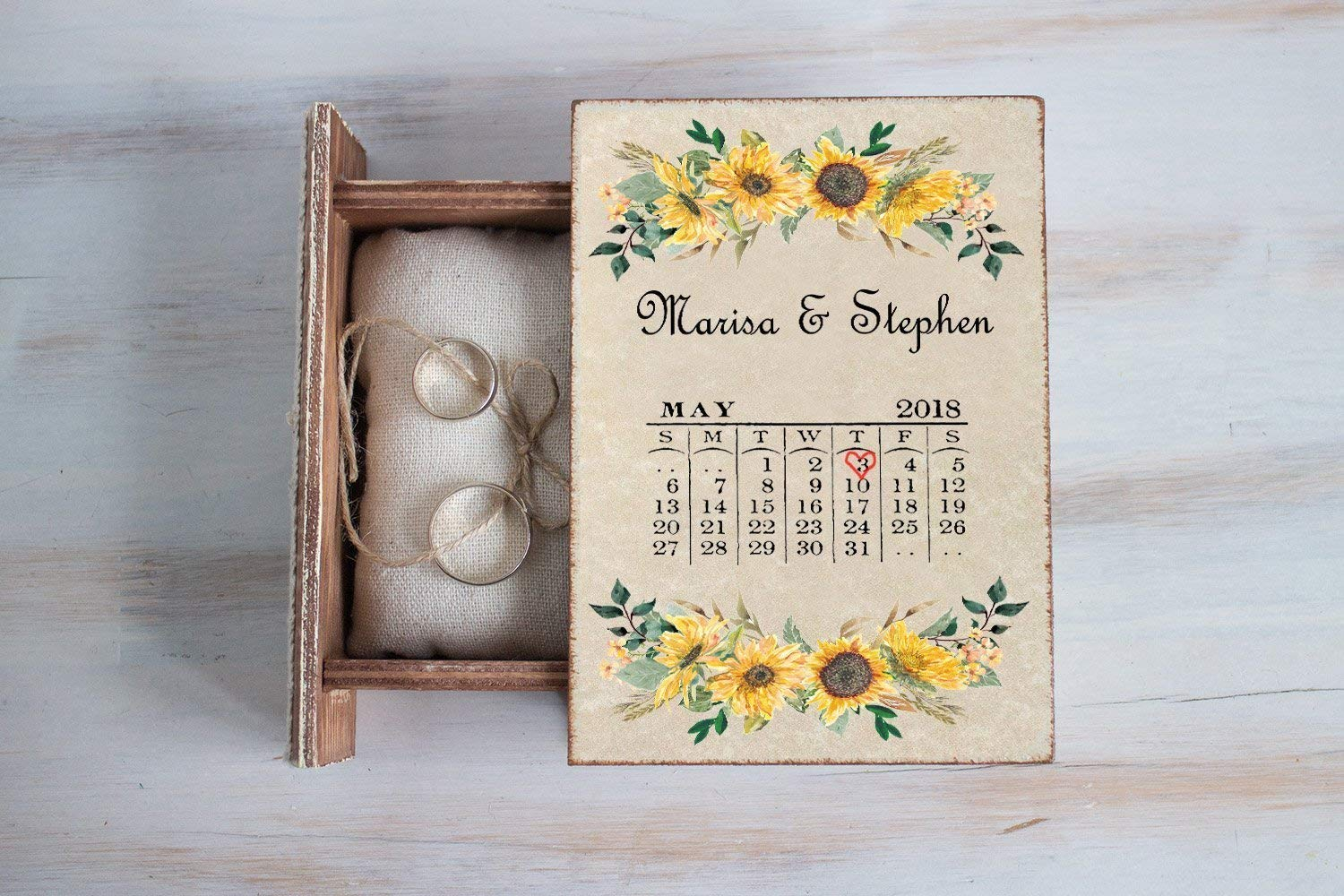 Personalized wedding box Save the Date Box Ring OFFicial store New mail order B Wedding