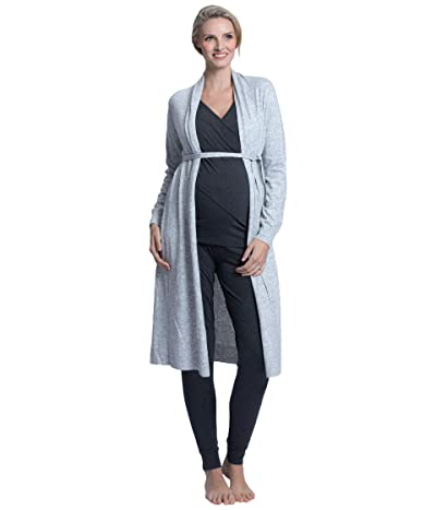 Angel Maternity Five-Piece Maternity Nursing Outfit (Grey) Women