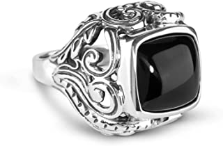 Sterling Silver Onyx Bold Ring