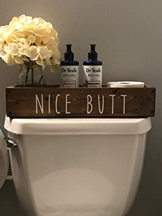 Nice Butt Bathroom Decor Box Toilet Paper Holder Farmhouse Rustic