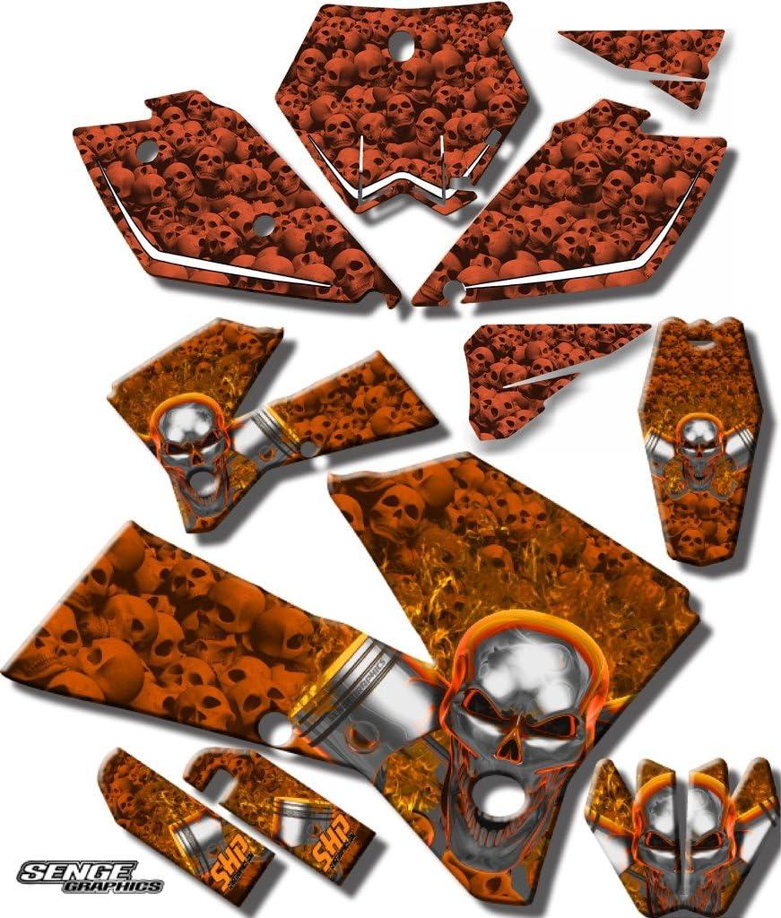 2005-2006 SX セール特別価格 Flaming Gearhead Orange Ki Complete Graphics Senge 早割クーポン