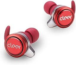 Cleer Ally Auriculares inalámbricos, batería de larga duración de hasta 10 horas, auriculares Bluetooth Rojo