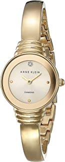 Anne Klein Womens Quartz Watch, Analog Display and Stainless Steel Strap AK-2558CHGB