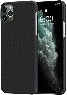 PITAKA Ultra Slim Case Compatible with iPhone 11 Pro AirCase Military Bulletproof 600D Premium Aramid Fiber Ultrathin Ultralight 5.8 inches Carbon Style Minimalist Simple Design Cover
