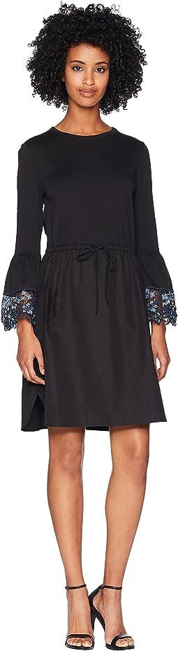Lace Trim T-Shirt Dress