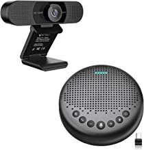 Home Office Set from Bluetooth Speakerphone Luna + 1080P HD Streming Webcam C960, Computer Speakers with Microphone, Plug ...