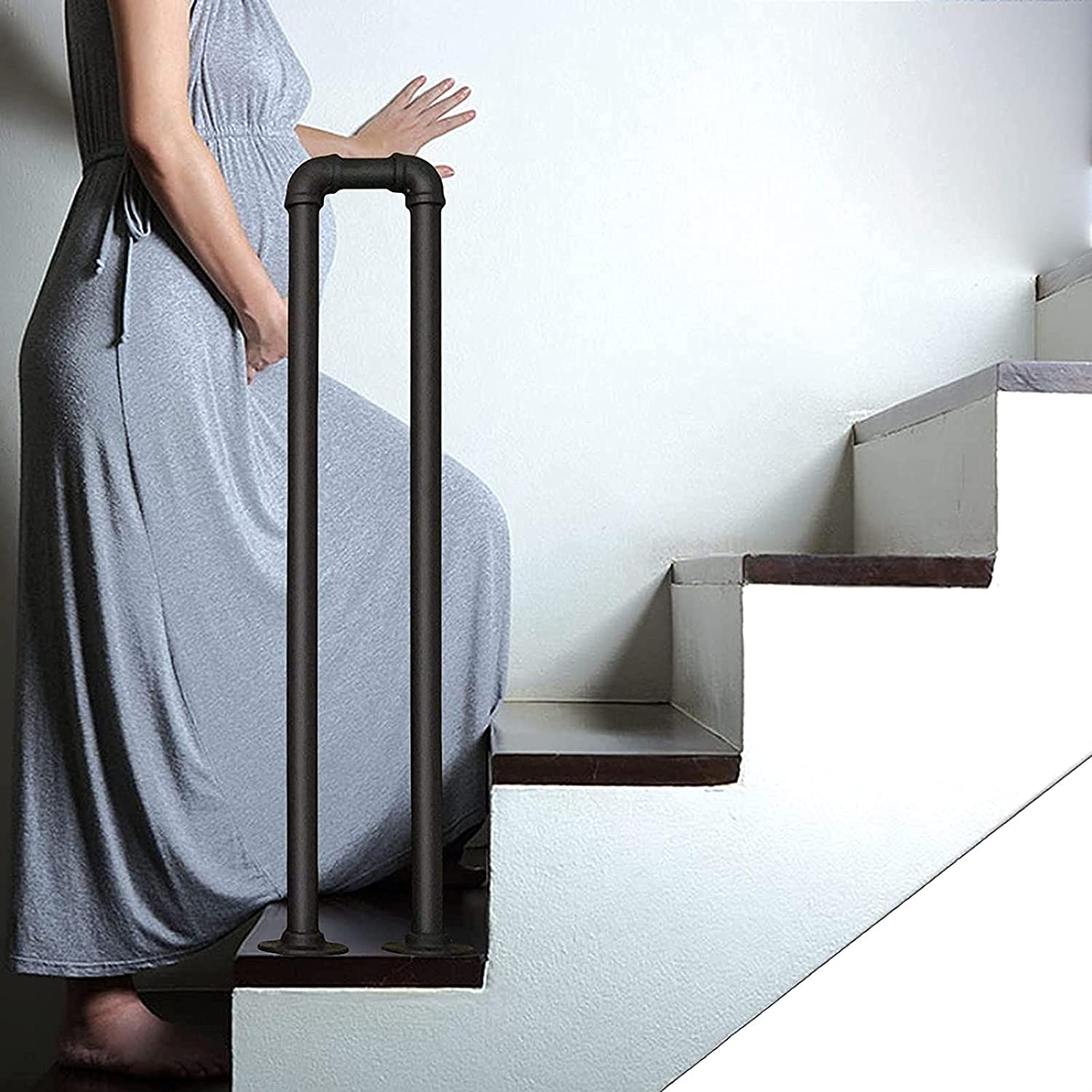 service CXSMKP Stair Max 73% OFF Handrails Safety Non-Slip Picket Wrought