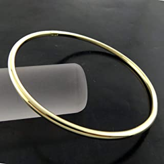 GOLF CUFF BANGLE BRACELET 18K YELLOW GOLD SOLID FILLED WOMEN'S JEWELLERY