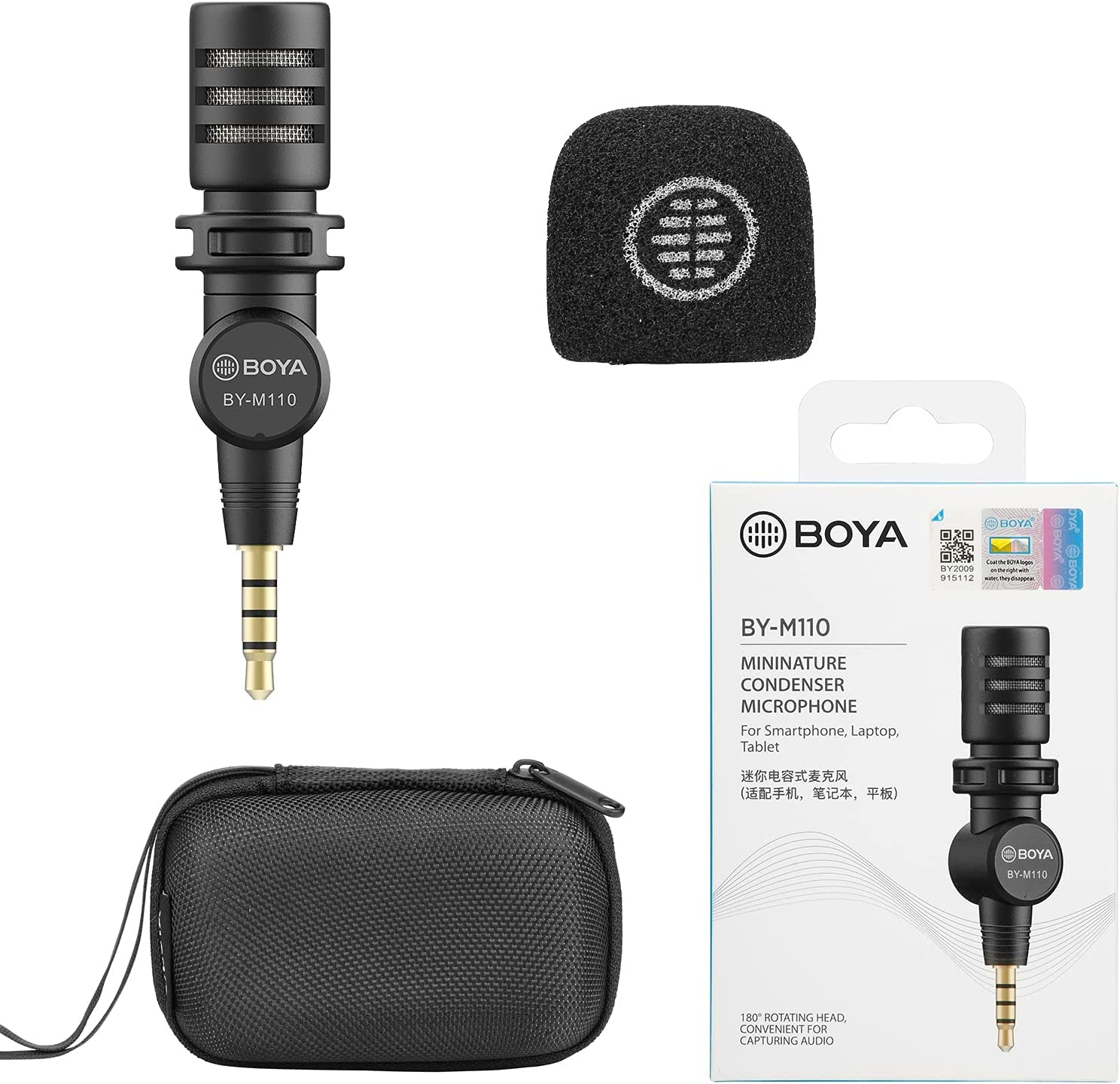 Free shipping on posting reviews Smartphone 3.5mm Dealing full price reduction TRRS Microphone BOYA wit Mic PlugPlay BY-M110