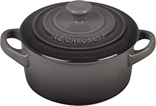 Le Creuset PG1160T-087F Stoneware Mini Round Cocotte, 8 oz, Oyster