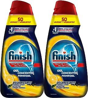 Finish 洗碗液 洗碗机专用洗涤剂1L*2 洗碗粉液化升级版(适用西门子海尔美的?#25945;?#31561;)(进口)(亚马逊自营商品, 由供应商配送)
