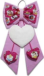 Crociedelizie, fiocco nascita rosa coccarda fuori porta cuore ricamabile tela aida principesse Disney