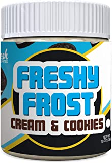 Freshy Frost Cream & Cookies Flavored Nut Butter Frosting | All Natural, Gluten-Free | 10oz. (Cream & Cookies)