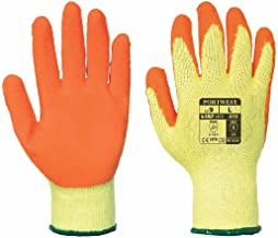 12 x Portwest Rubber Palm Scaffolding and Builders Work Gloves - Large