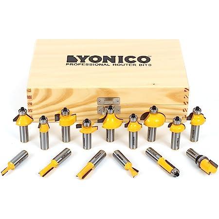 Yonico 17150 15 Bit Router Bit Set 1/2-Inch Shank