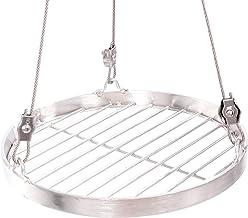 30 cm Grillrost Edelstahl für Schwenkgrill 3 Bein BBQ Grill Rost mit Seil 14 mm Stababstand