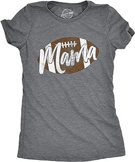 Womens Football Mama Tshirt Cute Pee Wee League Mom Tee