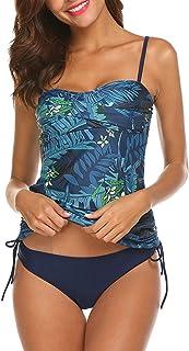 Bañador de Dos Piezas para Mujer Tamaño Grande Tankini Trajes de baño Bikini Set