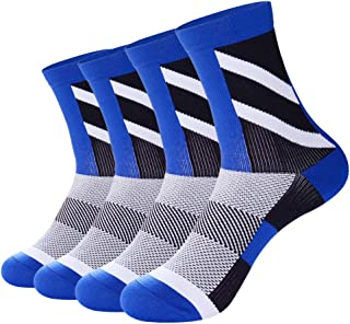 ETLieren Men's Compression Socks for Athletic,Cycling,Hiking,Football,Running,Multi 1/3/4/5 Pairs