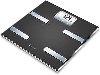 Beurer BF530 - Báscula de baño diagnóstica de vidrio, memoria para 8 usuarios, color negro