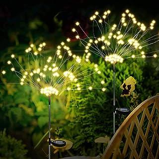 Eleadsouq Solar Garden String Light, Outdoor Firework Decorative Lights, Copper Wire Fairy Light Landscape Flower DIY Ligh...