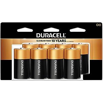 Duracell CopperTop D Batteries | Long Lasting Alkaline D Battery Pack | 8 Count