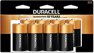 Duracell - Coppertop D Alkaline Batteries with recloseable package - long lasting, all-purpose D battery for household and business - 8 count