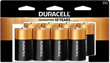 Duracell - CopperTop D Alkaline Batteries with recloseable package - long lasting, all-purpose D battery for household and...