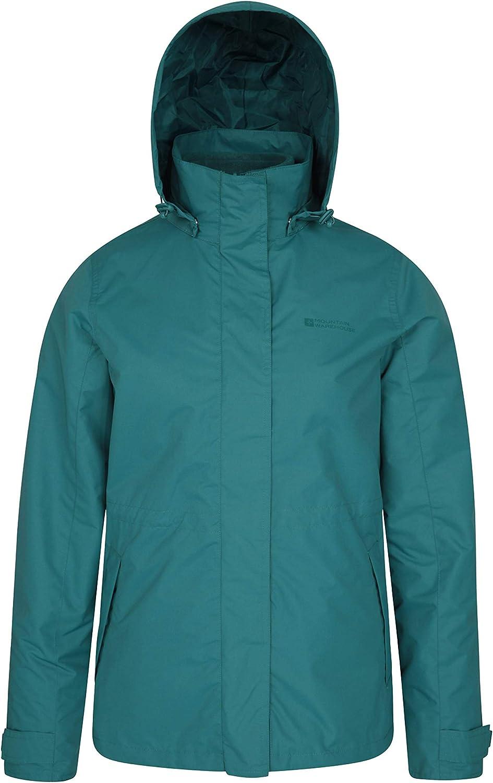Mountain Warehouse Fell Womens 3 in 1 Jacket -Water Resistant Rain Jacket Ideal Womens Coat for Walking Packable Hood Adjustable Hood Ladies Winter Triclimate Jacket