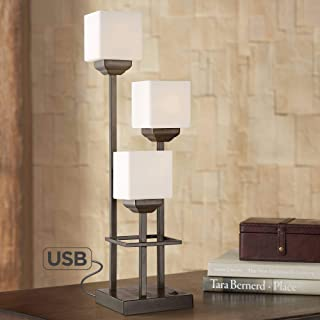 Light Tree 3-Light Bronze Console Table Lamp with USB - Franklin Iron Works